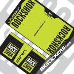 Rockshox Vivid Air 2014 Decals kit Rear Shocks - bkstickers