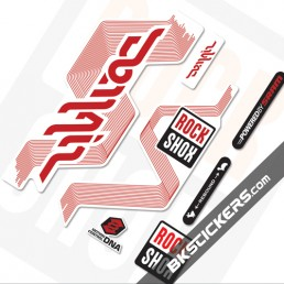Rockshox Domain White Fork Decals kit - bkstickers.com