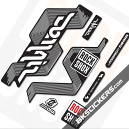 Rockshox Domain Black Fork Decals kit - bkstickers.com