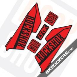 Rockshox Lyrik 2016 Black Fork Decals kit - bkstickers.com