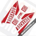 Rockshox Lyrik 2016 White Fork Decals kit - bkstickers.com
