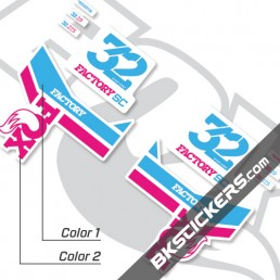 Fox 32 SC Factory Series Decals Kit White Forks - bkstickers.com
