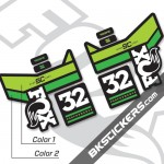 FOX 32 Float SC Performance 2016 Decals Black Forks - Bkstickers