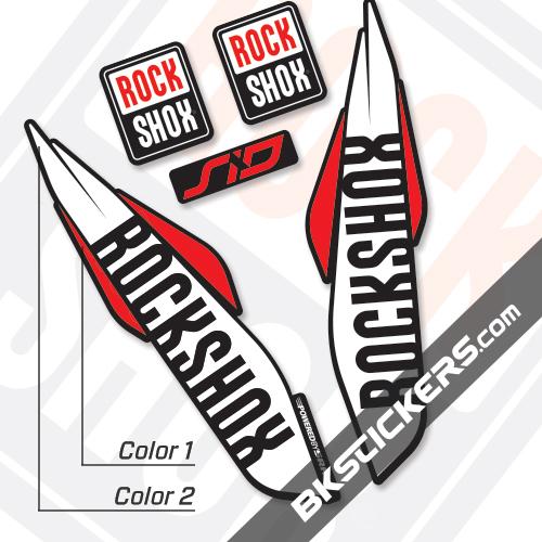Rockshox SID 2017 Black Fork Decals kit - Bkstickers.com