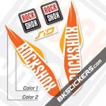 Rockshox SID 2017 White Fork Decals kit - Bkstickers.com