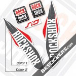 Rockshox SID 2017 White Fork Decals kit - Bkstickers.com
