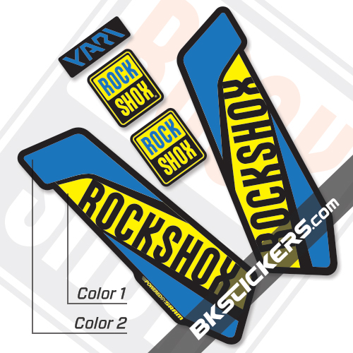 Rockshox Yari 2017 Black Fork Decals kit - Bkstickers.com