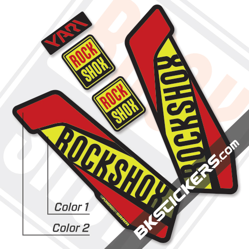 Rockshox Yari 2017 Black Fork Decals kit