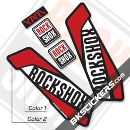 Rockshox Yari 2017 Black Fork Decals kit - Bkstickers.com