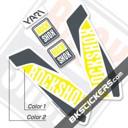 Rockshox Yari 2017 White Fork Decals kit - Bkstickers.com