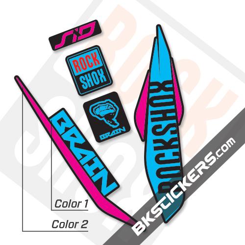 Rockshox SID Brain 2017 Black Fork Decals kit – Bkstickers.com