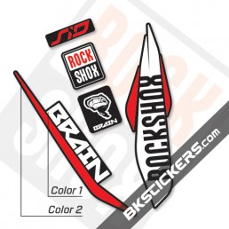 Rockshox SID Brain 2017 Black Fork Decals kit - Bkstickers.com
