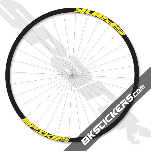 Spank spike 33 race decals kit bkstickers com