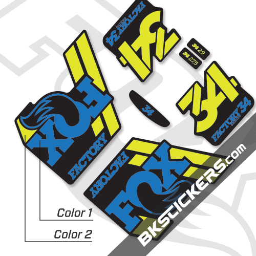 Fox Factory 34 2018 Decals Black Forks - BkStickers.com