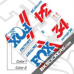Fox Factory 34 2018 Decals White Forks - bkstcikers.com