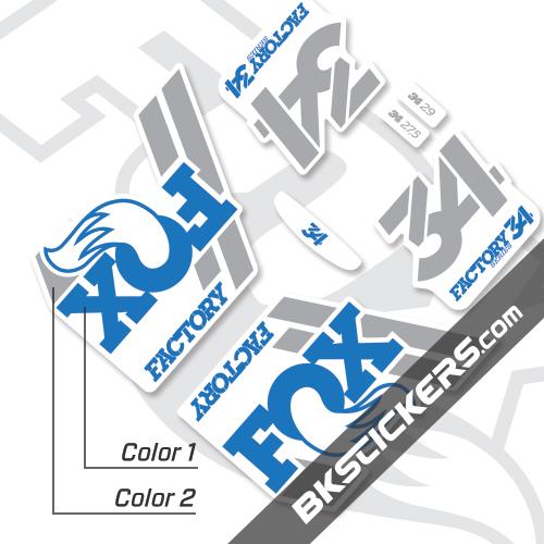 Fox Factory 34 2018 Decals White Forks - Bkstickers.com
