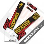 Rockshox SID Brain 2018 Black Fork Decals kit - bkstickers.com