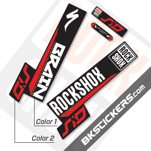 Rockshox SID Brain 2018 Black Fork Decals kit - bkstickers.com