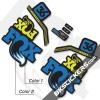 Fox Factory 36 2017 Custom Stickers kit Black Forks