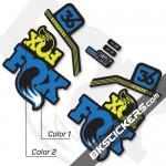 Fox Factory 36 2017 Custom Stickers kit Black Forks