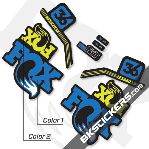 Fox Factory 36 2017 Custom Stickers Kit Black Forks Bkstickers