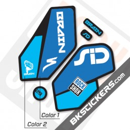 Rockshox SID Brain 2012 Black Fork Decals kit - Bkstickers.com