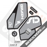 Rockshox SID Brain 2012 Black Fork Decals kit - Bkstcikers.com