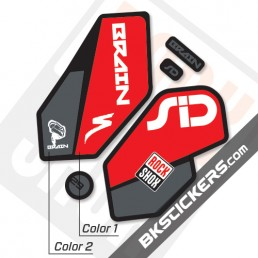 Rockshox SID Brain 2012 Black Fork Decals kit - Bkstickers.co