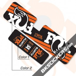 FOX Factory Float X2 Decals Kit Rear Shock - BkStickers.com