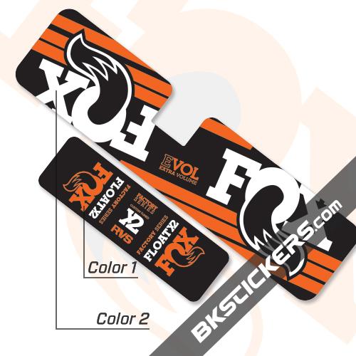 FOX Factory Float X2 Decals Kit Rear Shock - BkStickers.com