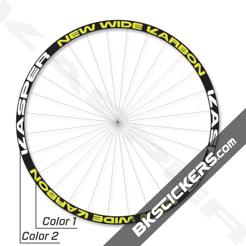 Kasper New Wide Karbon Decals Kits - BkStickers.com