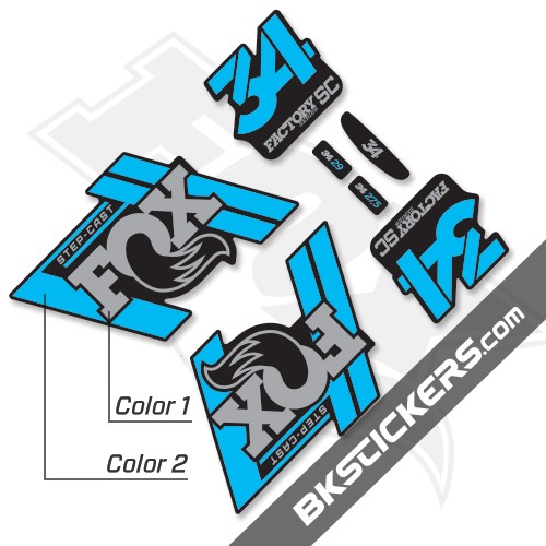 Fox Factory 34 2019 Decals Black Forks