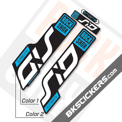 Rockshox SID 2020 Black Fork Decals kit - BkStickers.com