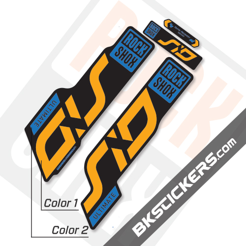 Rockshox SID 2020 Black Fork Decals kit - BkStickers.com