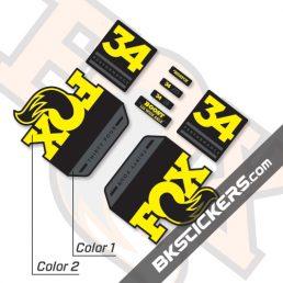 Fox 34 Float GRIP Performance 2019 Decals Black Forks - bkstickers.com