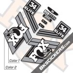 FOX 34 Performance Elite 2019 Decals Black Forks - BKsticker.com
