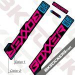 Rockshox Boxxer 2021 stickers kit Black Forks