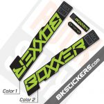 Rockshox Boxxer 2020 stickers kit Black Forks - Bkstickers.com
