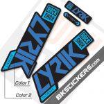 Rockshox Lyric 2020 stickers kit Black Forks - BkStickers.com