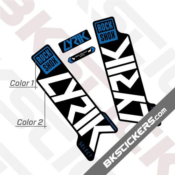 Rockshox Lyric 2020 stickers kit Black Forks 01