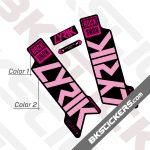 Rockshox Lyric 2020 stickers kit Black Forks 02
