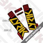 Rockshox Lyric 2020 stickers kit Black Forks 03