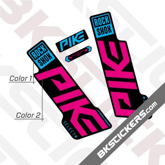 Rockshox Pike 2020 stickers kit Black Forks 02