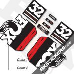 FOX 32 Performance 2019 Decals Black Forks