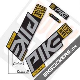 Rockshox Pike 2020 stickers kit Black Forks
