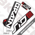 Rockshox SID Brain 2020 Black Fork Decals kit - BkStickers.com