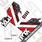 Fox 32 Step-Cast AX Decals Black Forks - bkstickers.com