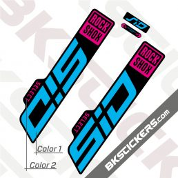 Rockshox SID 2021 Black Fork Decals kit - BkStickers.com