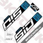 Rockshox SID SL 2021 Black Fork Decals kit - BkStickers.com