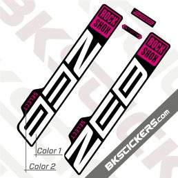 Rockshox ZEB 2021 Black Fork Decals kit - BkStickers.com